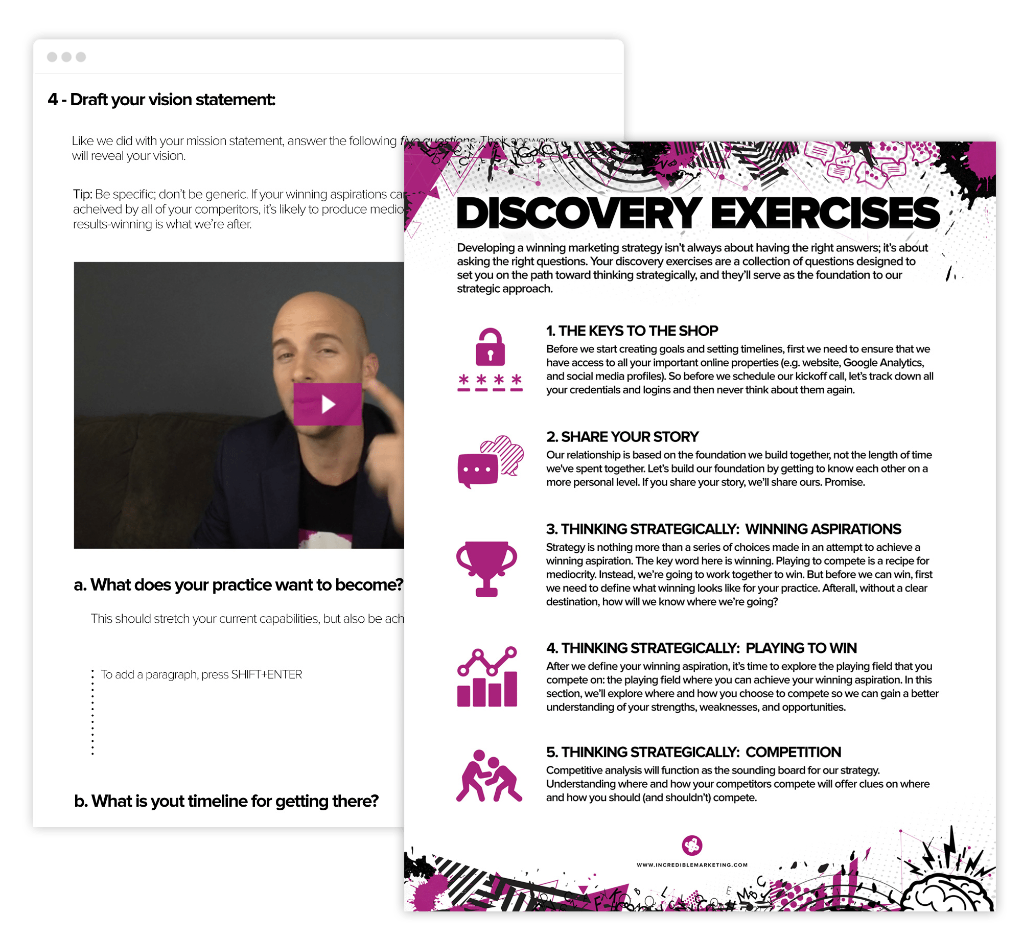 website discovery exercises